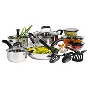 Basic Essentials 16pc Stainless Steel Cookware Set at Sears.com