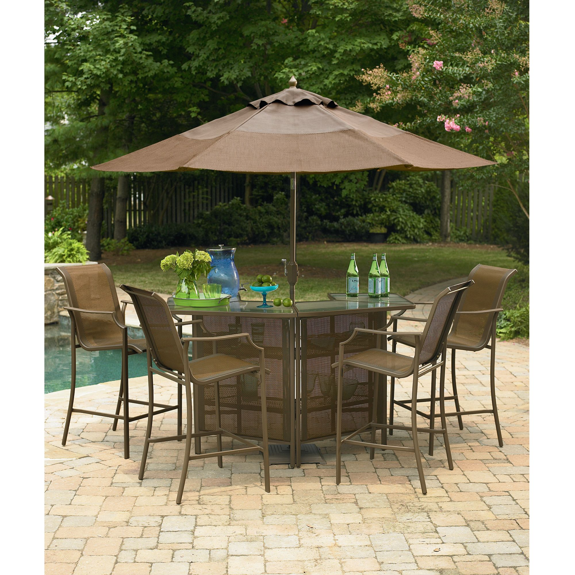 Garden Oasis Ss J 251 1nbset5 Saratoga 5 Piece Bar Set Sears Outlet