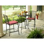 Garden Oasis Wilder Wrought Iron 3 Pc. Bistro Set at Sears.com
