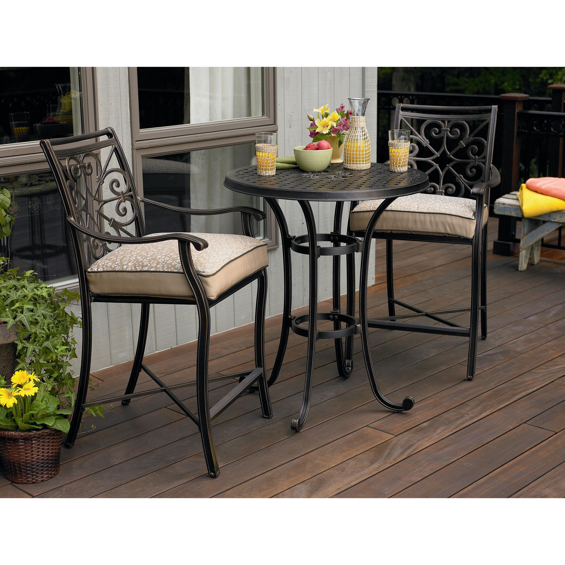 Fair Oaks 3pc Balcony Height Bistro Set