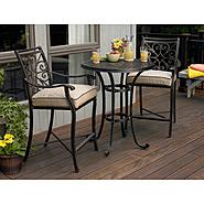 Agio Fair Oaks 3pc Balcony Height Bistro Set at Sears.com