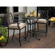 Agio Fair Oaks 3pc Balcony Height Bistro Set at Kmart.com