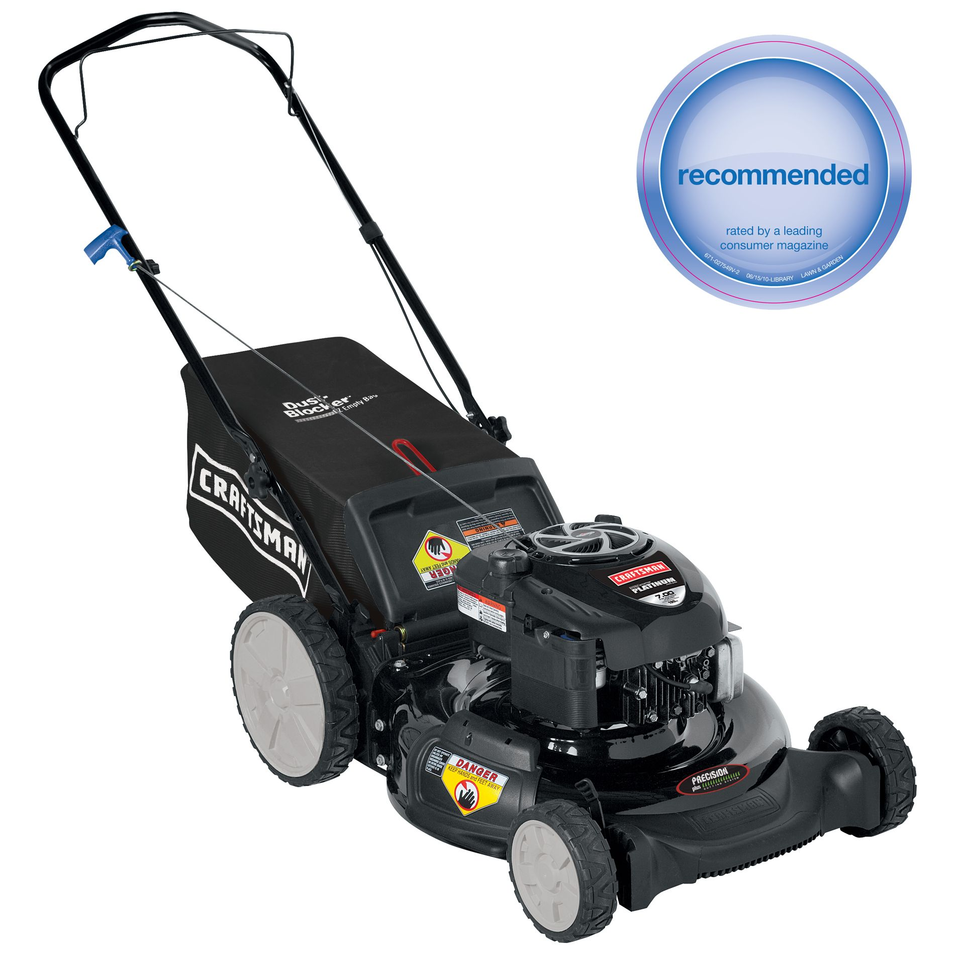 Craftsman  21'' 190cc* Rear Bag High Wheel Push Lawn Mower w/ MRS Non CA