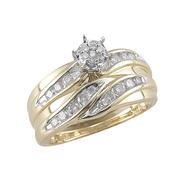10Kt Yellow Gold 1/2Cttw Diamond Bridal Set at Kmart.com