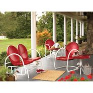 Essential Garden Retro Steel Clam Rocker - Red at Kmart.com