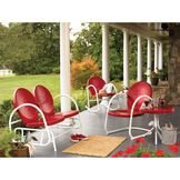 Essential Garden Retro Steel Clam Table - Red at mygofer.com