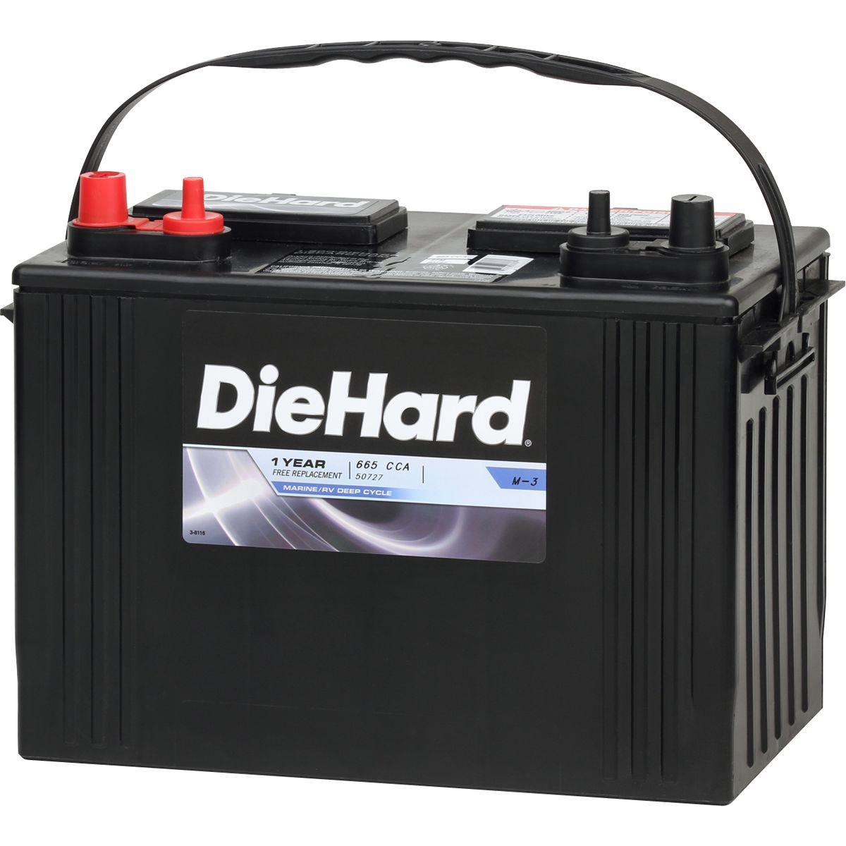 Image of DieHard Marine/RV Battery 50727 - Group Size 27M (Price With Exchange)