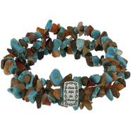 Multi-Colored Stone 3 Row Stretch Bracelet at Sears.com