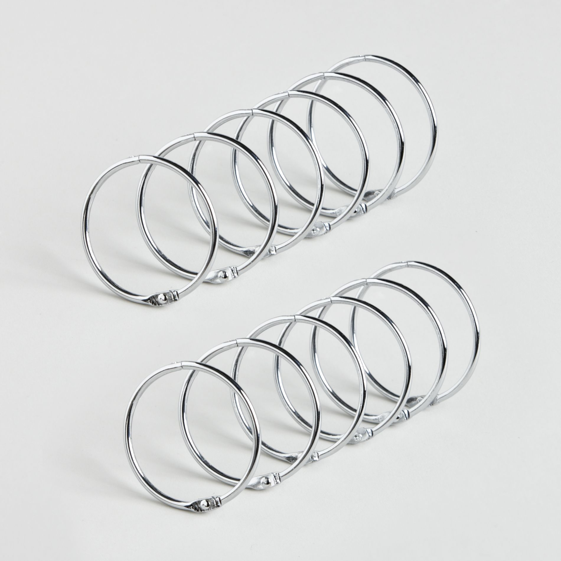Chrome Ring Shower Curtain Hooks