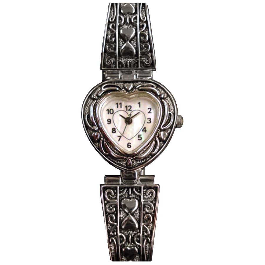 Ladies Heart Bangle Watch