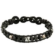 Black & Clear Crystal Bracelet with Sterling Silver Beads at Kmart.com