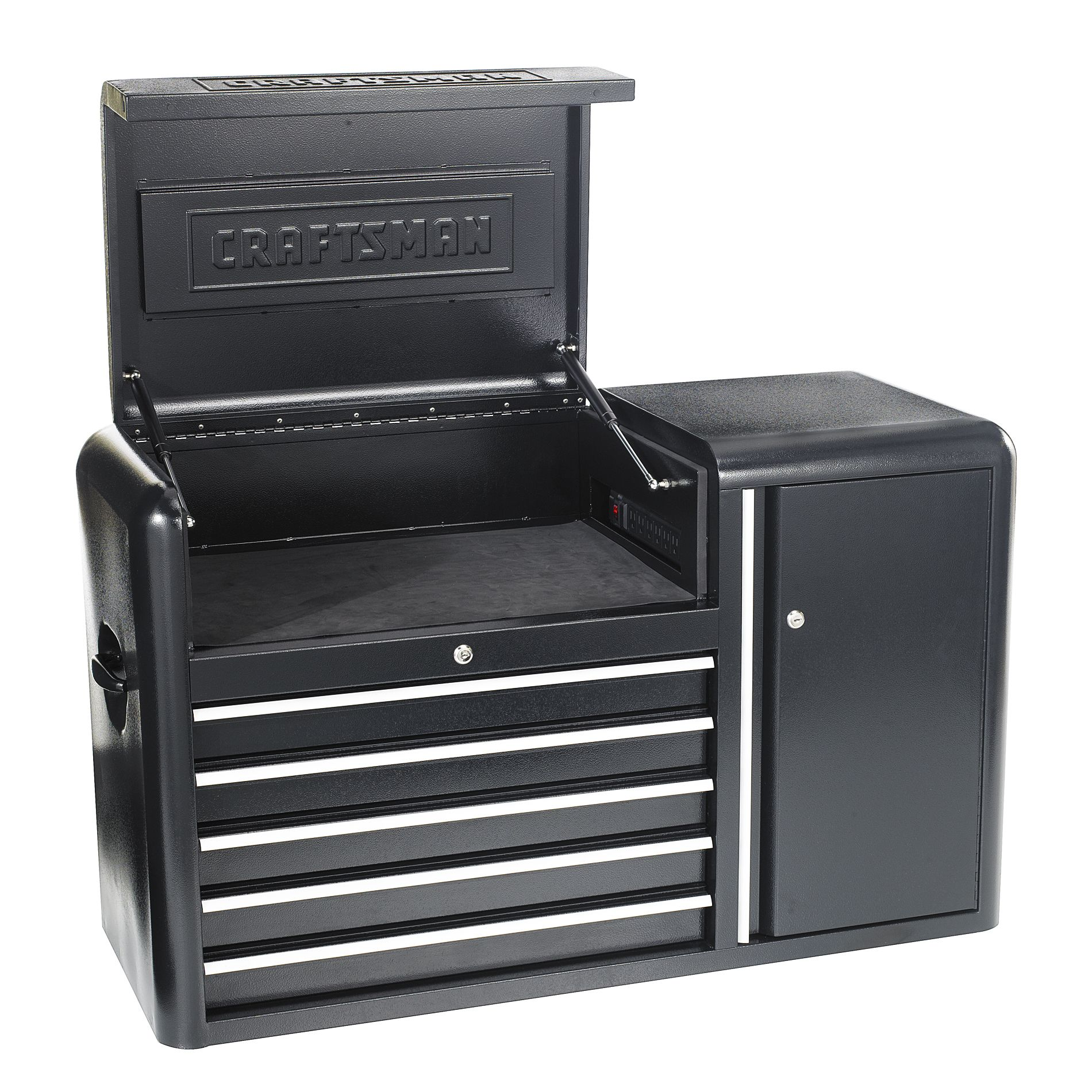 Craftsman 5-Drawer, 43- Inch Contour Power Top Chest