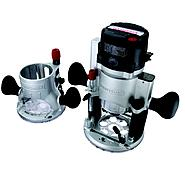 Craftsman 12-amp, 2-hp Fixed/Plunge Base Router with Soft Start Technology at Sears.com