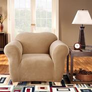 Sure Fit Stretch Pearson Dark Flax Chair Slipcover at Sears.com