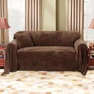 Sure Fit Plush Chocolate Sofa Throw Slipcover at Sears.com