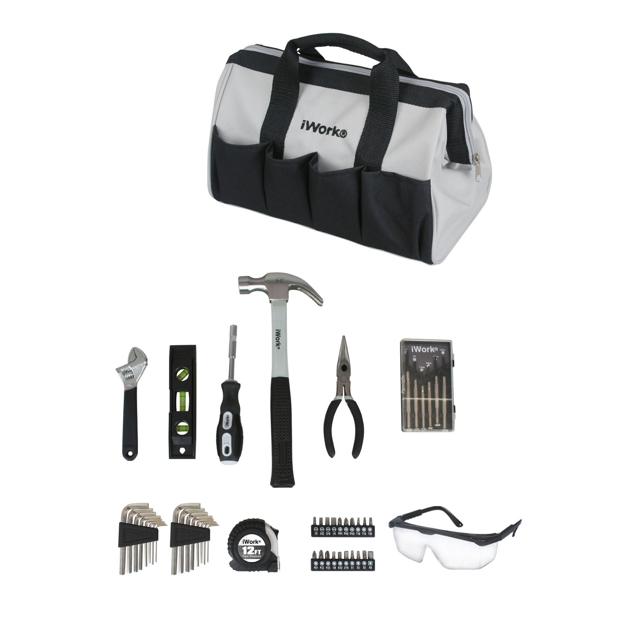 50 Piece Homeowners Tool Set With Carrying Bag