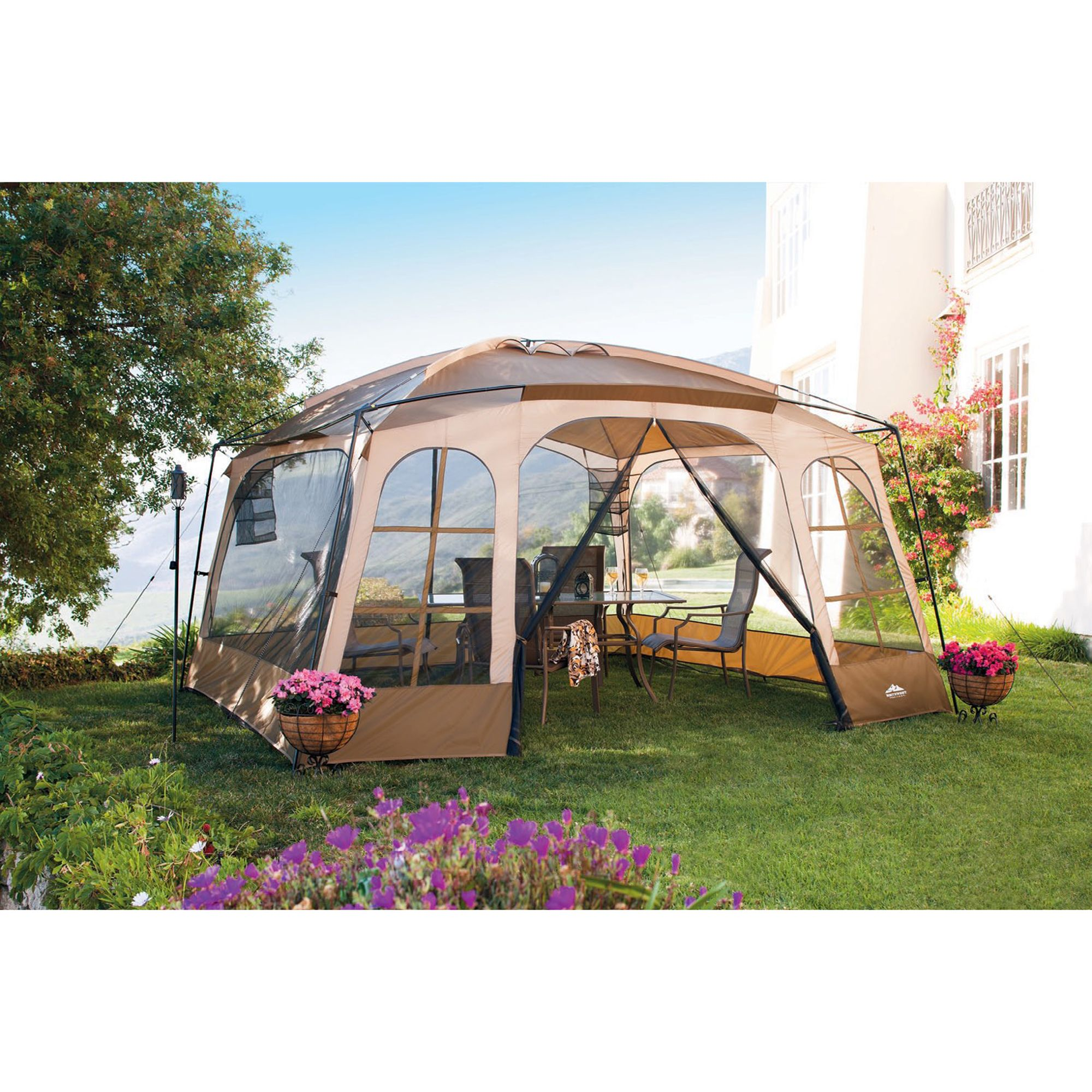12 ft. Deluxe Screened Gazebo                                                                                                    at mygofer.com