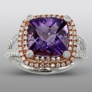 Zeghani Amethyst Ring with Simulated Diamonds at Sears.com