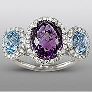 Zeghani Amethyst and Blue Topaz Ring at Sears.com