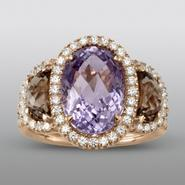 Zeghani Amethyst and Smokey Quartz Ring at Sears.com