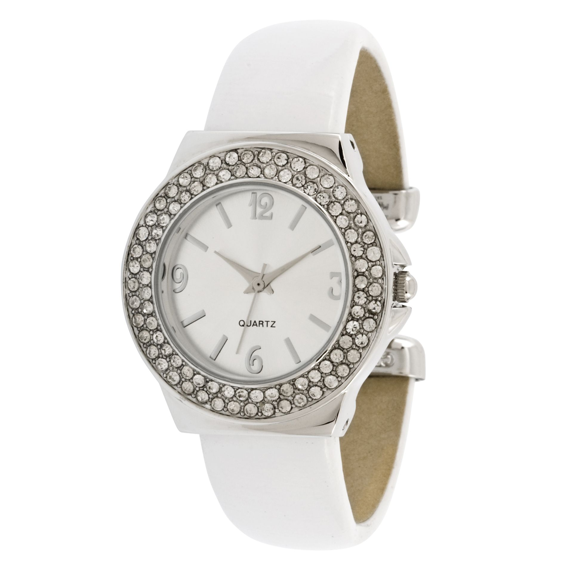 Ladies Dress Watch w/Round ST/Stone