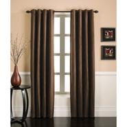 Essential Home Faux Silk Panel W/Grommets Chocolate at Kmart.com