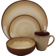 SANGO 16Pc Nova Brown Dinnerware Set at Kmart.com