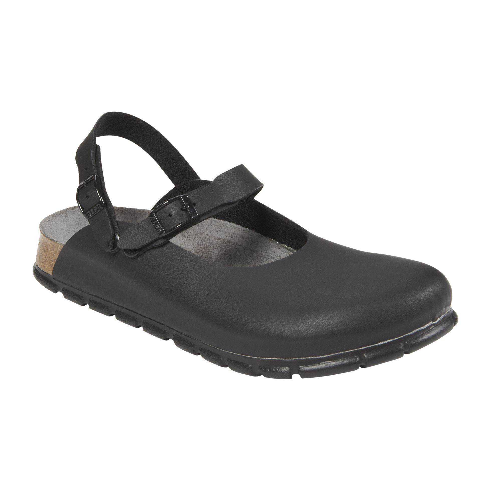 Women's 165 Birko Flor Work Clog - Black