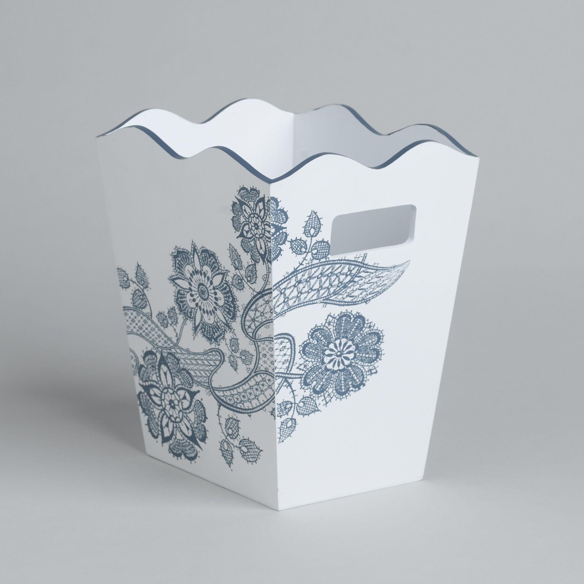 Country Living Porcelain Blossom Wastebasket - Bed & Bath - Shower ...