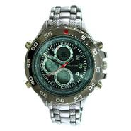 Structure Mens Watch w/Gunmetal Round Case, Ani/Digi Dial and GM Expansion Band at Sears.com
