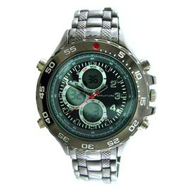 Structure Mens Watch With Gunmetal Round Case, Ani/Digi Dial and GM Expansion Band at Kmart.com