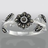 Sterling Silver Marcasite Flower Ring at Sears.com