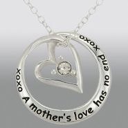 Sterling Silver and Cubic Zirconia Mother/Daughter Circled Heart Pendant at Sears.com