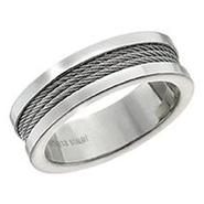 Men's Stainless Steel Cable Ring at Sears.com