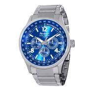 Armitron Mens Calendar Day/Date Watch w/ST Case, Blue Multi-Display Dial and ST Band at Kmart.com