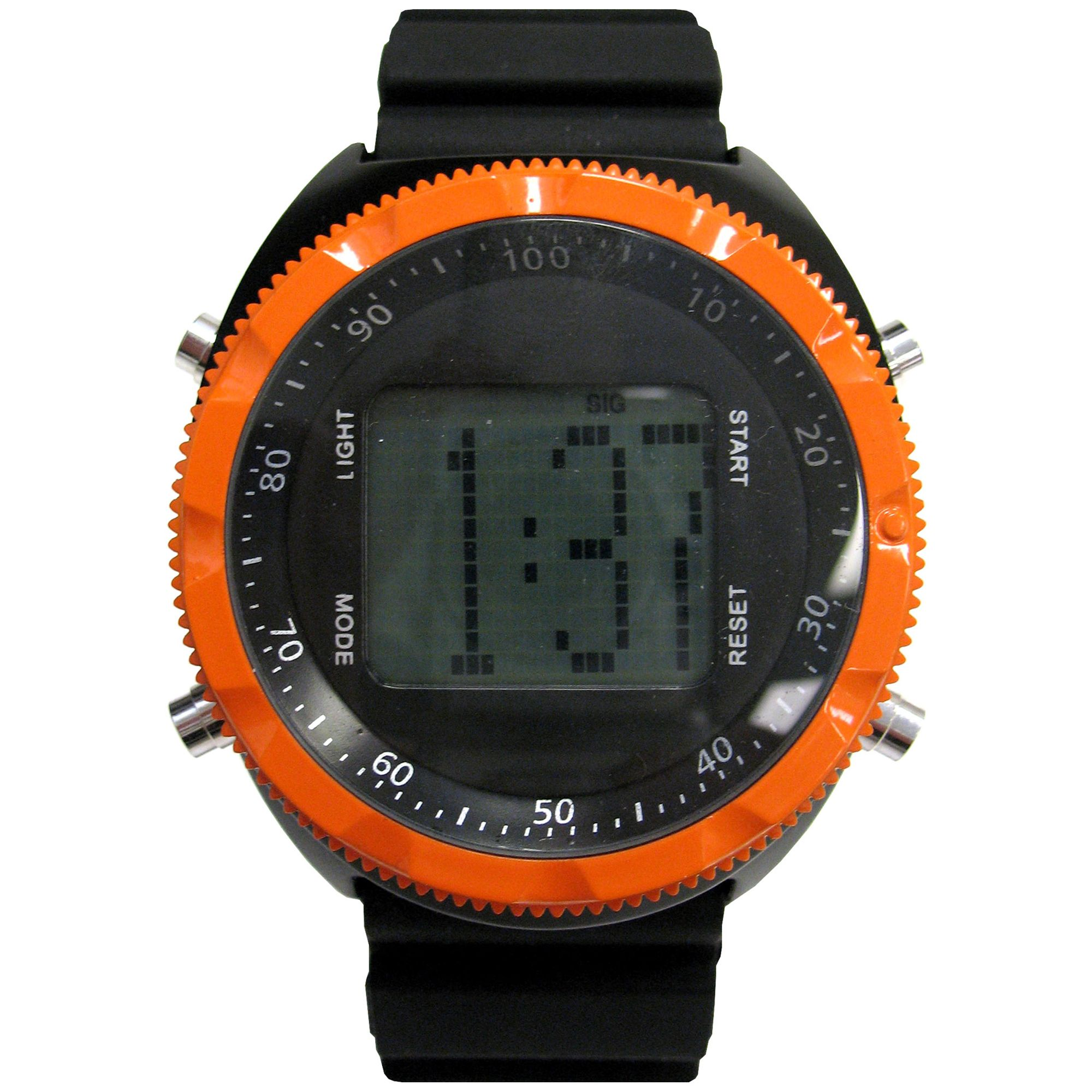 Black and Orange Digital Watch