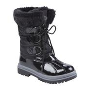 Athletech Women's Fiorella Fuzzy Fur Winter Boot - Black at Kmart.com