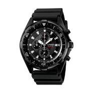 Casio Mens Calendar Date Chronograph Watch w/Black Round Case, Dial and Resin Band at Sears.com