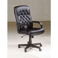 Acme Charles Black Split Leather Executive Chair w/ Pneumatic Lift at Kmart.com