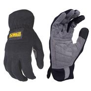DeWalt RapidFit™ Black Slip On Performance Work Glove with Grey Synthetic Leather Palm - Large at Craftsman.com