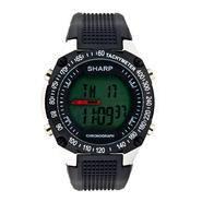 Sharp Mens Calendar Day/Date Chronograph Digital Watch with Black Case and Resin Band at Kmart.com