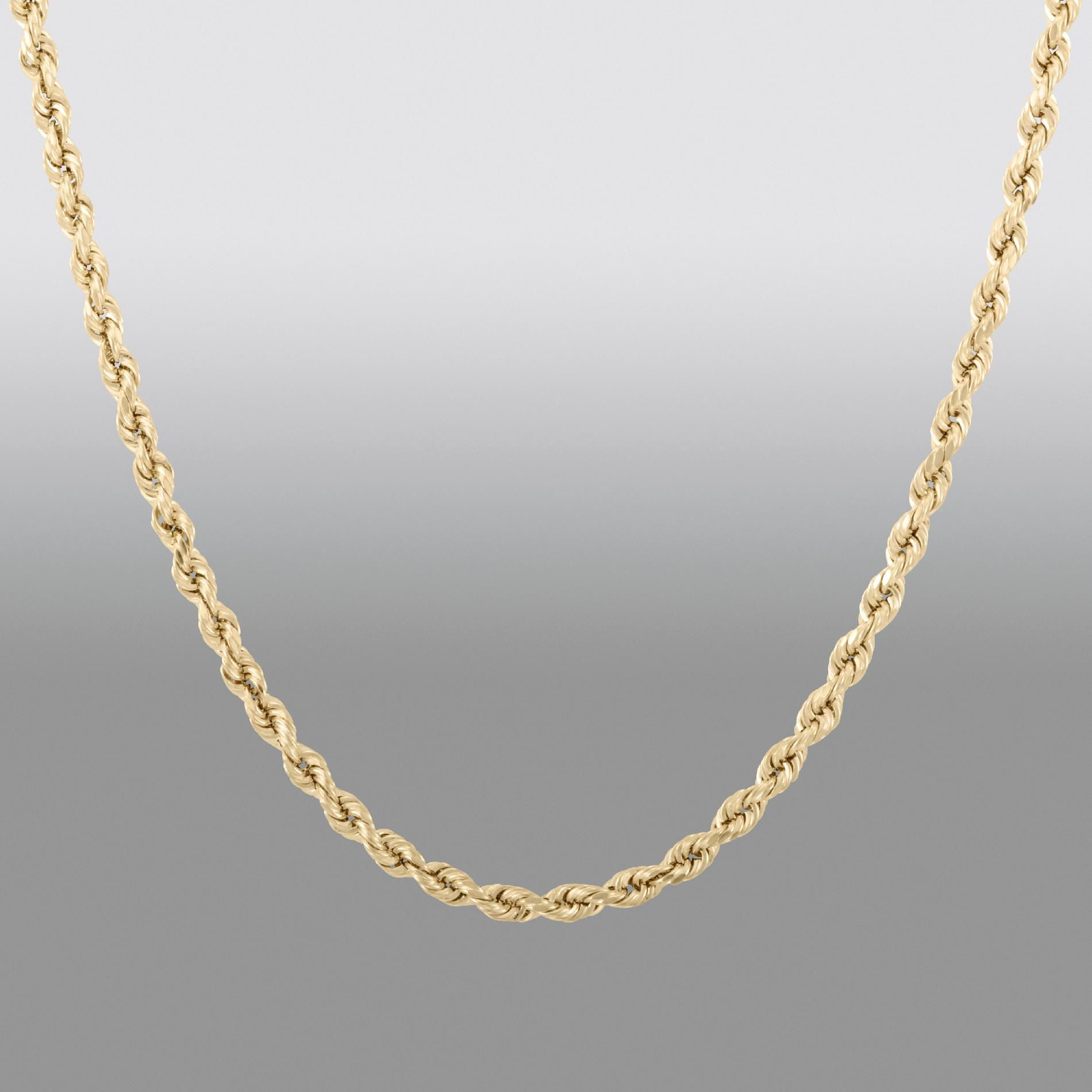 "10k Yellow Gold 20"""" Rope Chain"