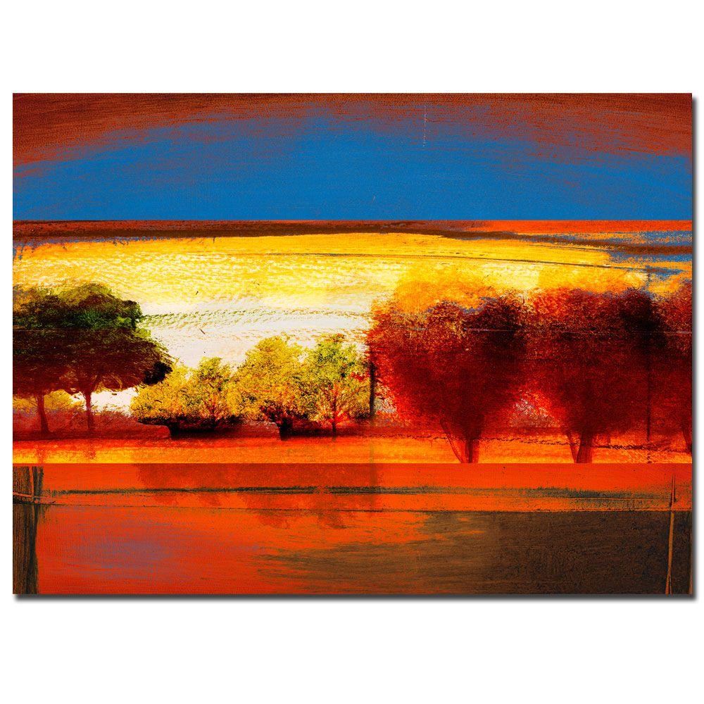 "Trademark Fine Art Miguel Paredes 'Red Dawn II' 14"" x 19"" Canvas Art PartNumber: 02448697000P KsnValue: 3914967 MfgPartNumber: MP0714-C1419GG"
