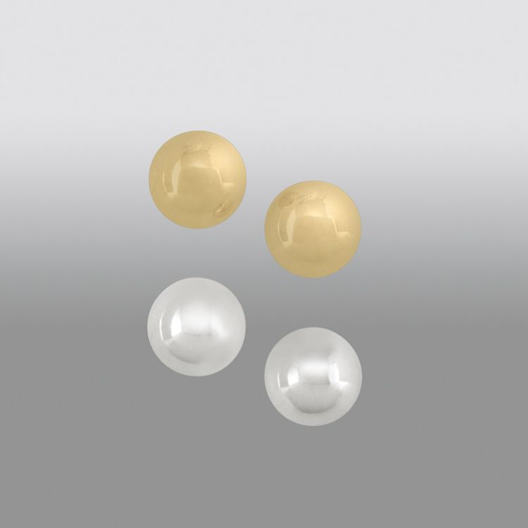 ²-Piece 7MM Ball Stud Earring Set in