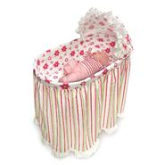 Badger Basket Embrace Bassinet with Stripe and Flower Bedding Set at Kmart.com