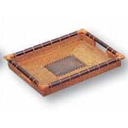 Neu Home Rattan & Terra Cotta Medium Tray at Sears.com