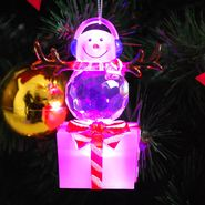 Trim A Home® Lighted Snowman Ornament -On Present with Earmuffs at Kmart.com