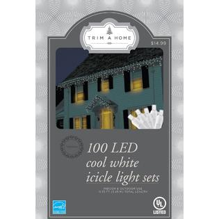 Trim A Home® Trim A Home®  Cool White Led Icicle Lights, 100 Ct