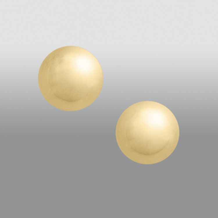 5MM Ball Stud Earring. 24K Gold over