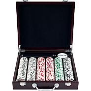 Trademark Poker 300 11.5g 4 Aces Poker Chip Set in Cigar Tray Chip Case at Kmart.com